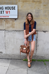 Gemma Talbot - Topshop Waistcoat, Topshop Shorts, Topshop Shoes - Suede Fringing