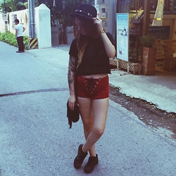 Sally S - Adidas Diy Cropped Tee, Get Bad Vibes Lace Up Shorts, Nixon The Re Run Watch, Adidas Originals Superstar - Chiang Mai