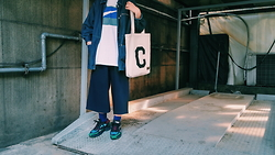 Mushroooooom H - Nike Tshirts, Vintage Denim Jacket, Covernat Eco Bag, Raf Simons Ozweego -  ozweeeeeego