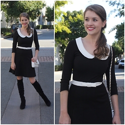 Heidi Landford - Review Dress, Forever New Bag, Forever New Boots, Marc By Jacobs Earrings - A Little Bit Ladylike
