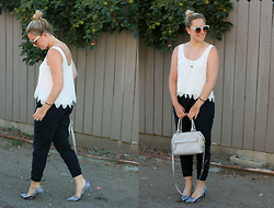 Elyse Cornett - Forever 21 Top, Abercrombie & Fitch Joggers, Nine West Heels, Kate Spade Bag, Free People Sunglasses - Let's Get Physical