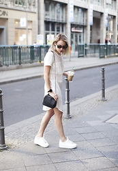 Lian G. - Modström Dress, Zara Bag, Bershka Shoes - White Dress