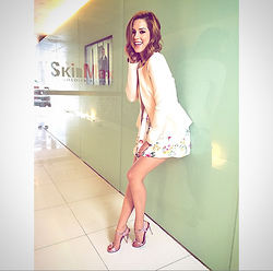 Sophia Abrahão - Topshop Blazer, Schutz Heels, Patricia Bonaldi Dress - Pink Shoes, Girly Style