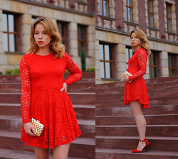 Wioletta Mary Kate -  - Red Lace Dress