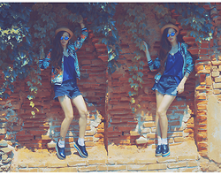 RAROIKA Rudnicka - Persunmall Jacket, Persunmall Shorts, Modekungen Shoes, Choies Hat, Lovelywholesale Sunglasses - WALL