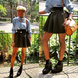 Gilecia Dias - Topshop Skirt, Forever21 Shoes - Chic School Girl!