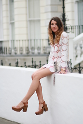 Gemma Talbot - Topshop Crochet Dress, Topshop Clogs, Topshop Bag - Crochet Dreams