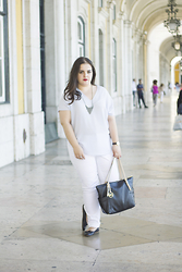 Joana Cardoso - Michael Kors Black Travel Bag, Zara Black Ballet Flats, Daniel Wellington Classic Bristol Lady Watch, Parfois Double Pearl Ring - Under the arches