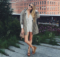 Payton Sartain - H&M Romper, Azul By Moussy Jacket, Mango Shoes - On the High Line
