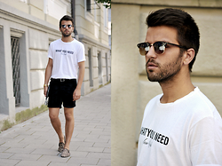 Marc Galobardes - Zara T Shirt, Topman Shorts, Urban Outfitters Slippers - LEOPARD SLIPPERS