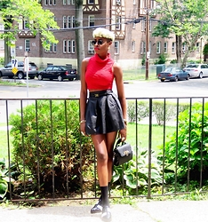 Gilecia Dias - Forever 21 Skirt - High neck crop+Leather Skirt