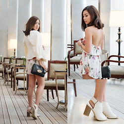 Kryz Uy - Love Clothing Playsuit, Lzd White Booties - Speak Up