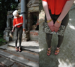 TheBerlindreamer - Zara Top, H&M Khaki Jeans, Bullboxer Wedges, Hallhuber Leather Clutch, Michael Kors Watch - Shadow Game