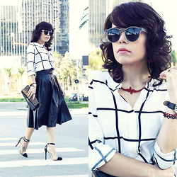 Priscila Diniz - Skirt, Blouse, Necklace, Sunnies, Heels - MODERN AND CLASSIC