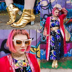 Isabel Hendrix - Kerol D Apparel Moon Beams Booties By Audrey Kitching, Kerol D. Apparel The Medusas Sunnies, Kiki Na Art Handmade Rupaul Necklace - ☆ Styling Just Got An Upgrade ☆