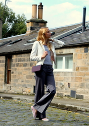 Karolina - H&M Top, H&M Trousers, Converse Trainers, Zara Bag, H&M Jacket, Marc By Jacobs Watch - Smart casual