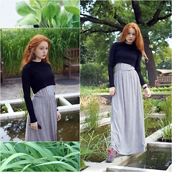 Elenah Kruk - Zara Crop Top, New Balance Sneakers, H&M Long Dress - Japanese