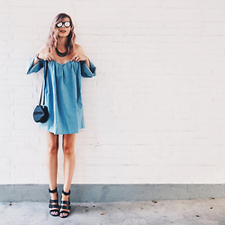 Jana Wind - Mlm Dress, Sunettes Sunglasses, Zara Sandals - Shoulderfree