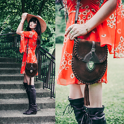 Rachel-Marie Iwanyszyn - Vintage Hat, Asos Dress, Prada Bag, Free People Boots - LOVE IS THE KEY TO THE THINGS THAT WE SEE.