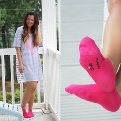 Jaclynn Brennan - Victoria's Secret The Angel Sleep Tee, Apye Made In France Socks - OVERSLEPT