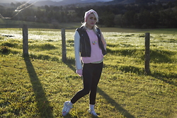 Hipbones and Heartbreak - Bonds Pastel Pink Sweater, Nasty Gal Reboot Moto Jacket, Adidas Zx Flux - Winter Pastels