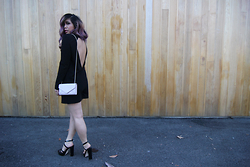 Yuka I. - Zara Romper, Barneys Bag, Zara Heels - Black summer