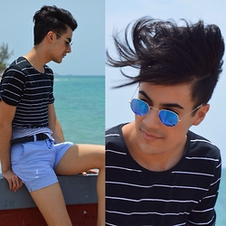 Armando Maldonado - Jack & Jones Cotton T Shirt, American Apparel Cotton Shorts, Polette Sunglasses - Puerto Rico Day 1