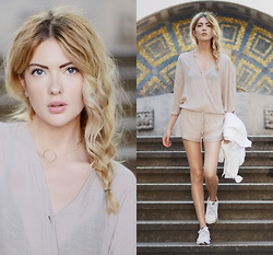 Ebba Zingmark - Pylo Jumpsuit, Love Beverly Necklace, Nike Sneakers - DUST AND HEAT
