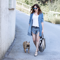 Who is Mocca? - One Teaspoon Shorts - Denim on Denim