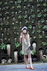 Joellen Lu - Nastygal Head Piece, Missguided Shirt Dress, Dieppa Restrepo Loafers - OLIVE IT