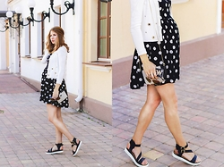 Lusia Nazarenko - Mink Pink Dress - Polka dots