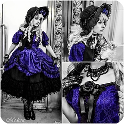 Medore Ruiz - Selfmade Gothic Victorian, Selfmade Bonnet, Selfmade Gothic Choker, Daiso Lace, Lace - ♚ ☨。.The Vampire Claudia ✥ Photoshoot.。☨ ♚