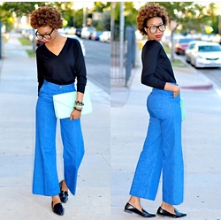 Eny K - Prada Long Sleeve, Forever 21 Clutch, H&M Wide Leg Cropped, Forever 21 Loaffers - CASUAL GET-UP