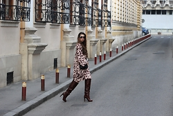 Ramona Crisstea - Vero Dress, H&M Bag, Boots - Salt in the Air Sand in my Hair