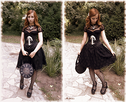 Mitsu Scissorhands - Restyle Skeleton Cameo Belt, Restyle Antic Clock Bag - Victorian meeting