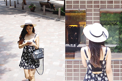 Mayu Rajkovic - Forever 21 Summer Dress, Coach Bag - Straw Hat