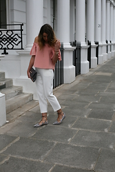 Gemma Talbot - Topshop Top, Topshop Trousers, Topshop Shoes, Balenciaga Bag - Powder Pink