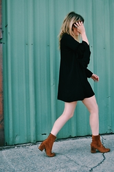 Kirby C - Zara Dress, Free People Ankle Boots - No. 27