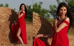 Simona VintageLook - Dressin Red Dress - Red Obsession