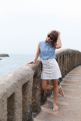 Astrid Sp4nk Blog - Asos Denim Skirt - Biarritz