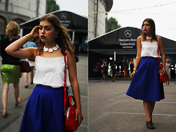 Jasmin Fatschild - Shirt, Skirt, Shoes, Bag, Watch, Acessoire 1, Accessoire - THE BLUE SKIRT