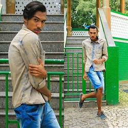 Yago Rodrigues - Dmarkas Camisa Jeans, Dmarkas Short Jeans - • Look of the Day- All Denim Loja Dmarkas!