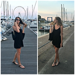 Anja - Zara Dress, Zara Bag, Ray Ban Club Masters, Victoria's Secret Sandals - From Italy with Love