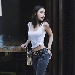 Belle Sirisoonthorn - B Low The Belt, Christian Dior Bag, Paul & Joe Jeans - GOLD