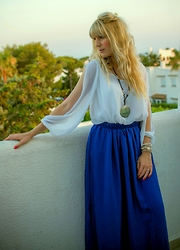 Tijana J.D - Dressgal Blouse, Suiteblanco Necklace, Mango Skirt - Mallorca - The beginning