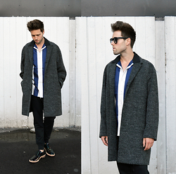 Jordi - Cos Coat, Acne Studios Oahu Shirt, Acne Studios Johna Sweatpants, Acne Studios Askin Oil Shoes - Reflections