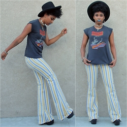 Robyn The Bank - The Bird Haus Vintage Bell Bottoms, Vintage Michael Jackson Tee - Saved by the Bells