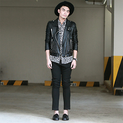 JANVIE TIU - Forever 21 Leather Jacket, Forever 21 Cheetah Print Button Up - Who Wears Cheetah? IG: @janvietiu