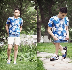Chris Su - Zara Top, Zara Short Jeans, Marni Sandals - One afternoon