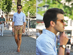 Marc Galobardes - H&M Shirt, Zara Shorts - FLOWERS
